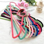 Heart Flocking Cloth Hanger