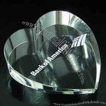 Heart Paperweight Optical Crystal Award/trophy.