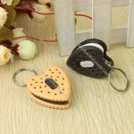Heart-shaped biscuit LED Keychain