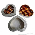 Heart-shaped Chocolate Boxes with Several Compartments and Transparent Window