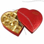 Heart-shaped Chocolate Tin Can with FDA, LFGB, EN71, SGS, BV Marks