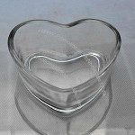 Heart Shaped Glass Candle Holders