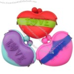 Heart Shaped Love Silicone Wallet Coin Pure