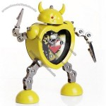 Heart shaped Robot Robotic Style Alarm Clock Quartz Desk Clock