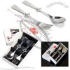 Heart-shaped Spoon and Fork Set