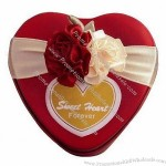 Heart-shaped Tin Can Metal Favors Boxes