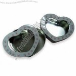 Heart-shaped Tins with Clear PVC Window
