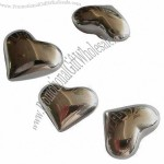 Heart-shapes Whiskey Stainless Steel (18/8) Ice Cube with Recyclable Features
