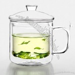 Heat-resistant Double Glass with Handle and Lid