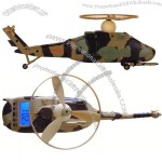 Helicopter Design LCD Digital Alarm Clock