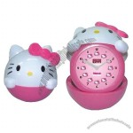 Hello Kitty Electron Alarm Clock Folding Clock Cartoon Clock