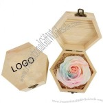 Hexagonal Wooden Box