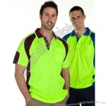 Hi Vis Short Sleeve Arm Panel Polo