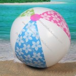 """Hibiscus Flowers Inflatable Toy Beach Ball - 18.5"""" 9"""" 5"""""""