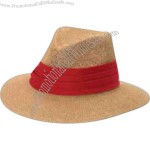 High density paper straw safari shape hat with elastic sweatband