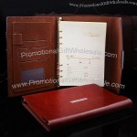 High-grade Leather Business Folded Ringbinder Notebook