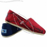 High quality ladies canvas shoes with canvas upper, PU insole, EVA out sole