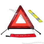 High reflectivity foldable and easy packing reflective warning triangle