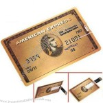 High-Speed Credit Card USB 2.0 Memory Stick Flash Drive