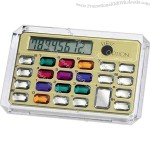 Horizontal 8 digit jewelry calculator.