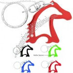 Horse Head Shape Bottle Opener Key ring