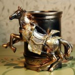 Horses Polyresin Pen Holder