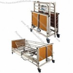 Hospital Bed, Variable Height Control To Provide Ease Of Operation For Both Car