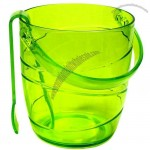 Hot Sell Plastic Ice Bucket with Tongs