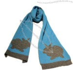 Hot Selling Thin Knitted Acrylic Scarf