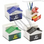 House Shaped Pen Holder with Clip Dispenser / Memo Holder