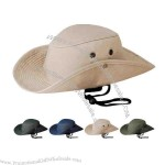 "Hunting 100% cotton twill ""safari"" bucket hat, fitted size."