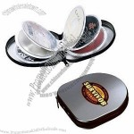 Icon Tin CD Holder with Zipper Closed