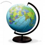 """Inflatable Globe, 12"""", with stand"""