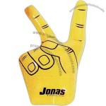 """Inflatable hand in the """"V"""" victory symbol"""