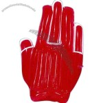 Inflatable high five shaped hand