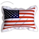 Inflatable mini US flag pillow with solid vinyl on both sides