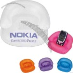 "Inflatable sofa shape opaque cell phone stand, 6"" deflated"