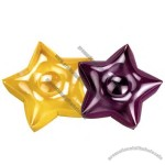 Inflatable star shape cushion.