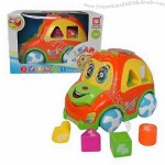 Intelligence Cartoon Building Block Car with Music and Light