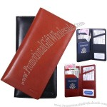 International Travel Cognac/Black Leather Wallet