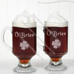 Irish Coffee Personalized Glass Footed Mug