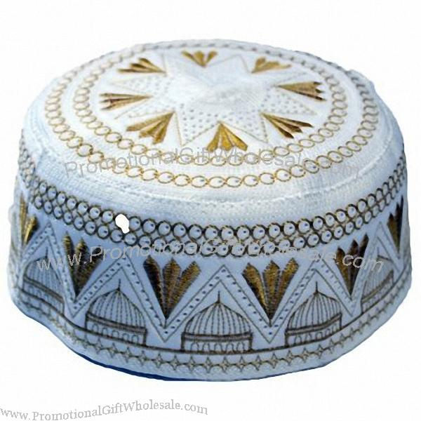 Umrah Banner: Promotional Islamic Fashion Hat, Muslim Prayer Cap Gift