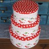 Japanese Style Cherry Tin Metal Storage Tin Glove Box - Confectionery Box Biscuit Box