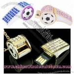 Jewel Whistle Necklace USB Flash Drive
