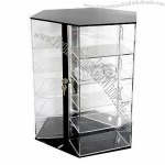 Jewelry display, made of TOP grade acrylic, 3 sides with rotating base
