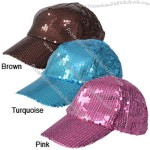 Journee Collection Women's Solid Sequin Baseball Cap