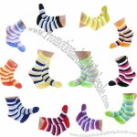 Juliet Ankle Length Women's Striped Toe Socks