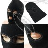 Keep Warm Soft Comfortable Black Three Hole Neck Full Face Mask