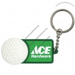 Key Chain With A Golf Ball Design