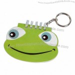 Key chain with frog shaped notepad